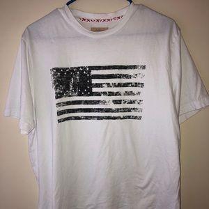 True Grit White Rustic American Flag Tee